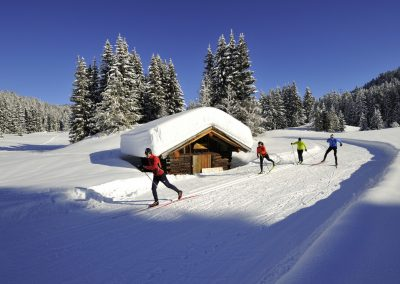 Cross country skiing in Seefeld, Tyrol